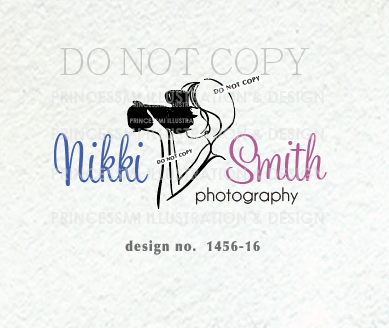 1456 16 photographer logo photography logo camera logo girl