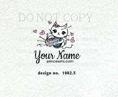 1002 5 Crochet And Knit Cat Logo Design Crochet Logo Knitting