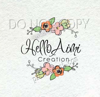 1456 11 Wreath Logo Floral Design Shabby Chic