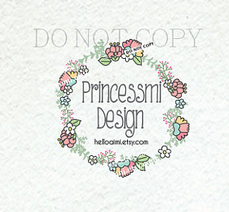 Logo 1419 10 Wreath Floral Design Shabby Chic
