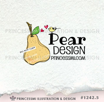 Home Kitchen Logo fruit logo, food logo design, pear logo, bakery logo, home kitchen