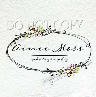 1456 13 Wreath Logo Floral Design Shabby Chic Photography