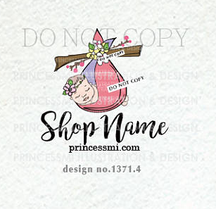 1371 4 newborn logo newborn photography logo baby boutique logo